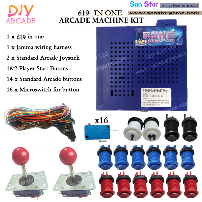 Free shipping Arcade DIY Accessories750 In One+on+Joystick+ Microswitch+ on
