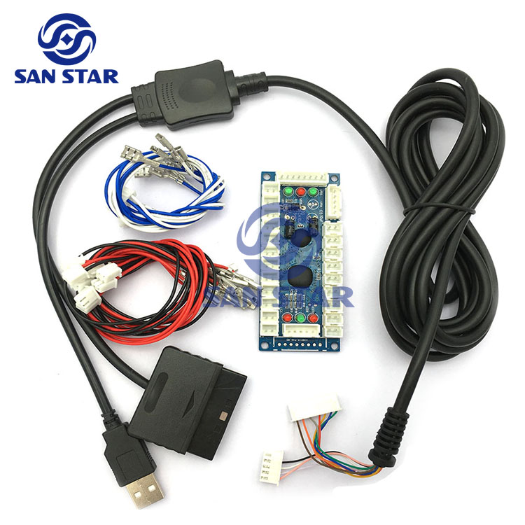4 IN 1 Zero Delay USB to Joystick Controller Can Work With PS3/PS2/PC/Xbox  360 for windows